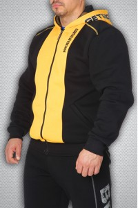 Толстовка 3553 черно-желтая