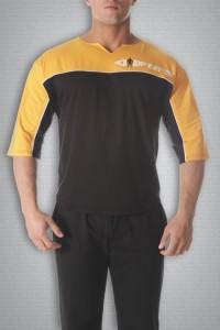 Футболка 3421 черно-желтая