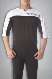 Футболка 3421 черно-белая