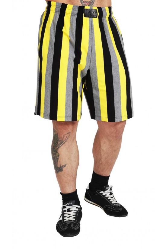 Шорты 2521 черно-желтые