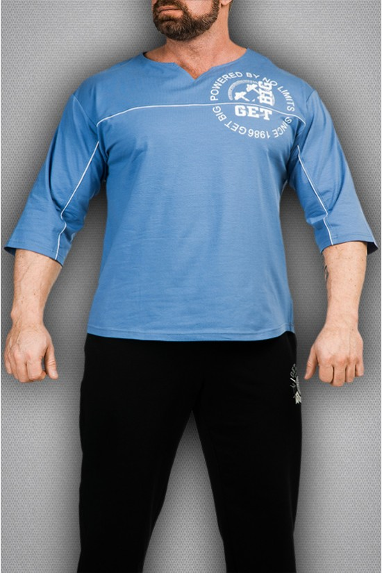 Футболка 3360  голубая